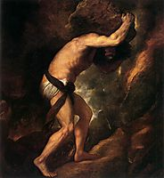 Sisyphus, 1549, titian