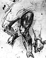 Study of legs, 1548-1557, titian