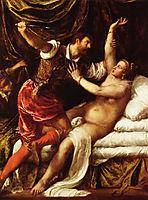 Tarquin and Lucretia, c.1570, titian