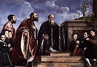 The Vendramin Family Venerating a Relic of the True Cross, 1545, titian