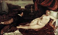 Venus and an Organist and a Little Dog, c.1550, titian