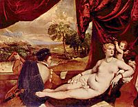 Venus and the Lute Player, c.1560, titian