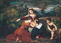 Virgin and Child with Saint and Saint John, c.1530, titian