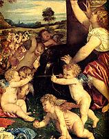 The Worship of Venus, detail 1, 1516-1518, titian