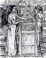 Female employees in the Candle factory in Gouda, 1905, toorop