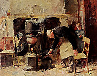 Preparing The Meal, 1883, toorop
