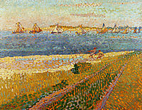 The fishing fleet of Veere, toorop