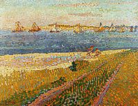 The fishing fleet of Veere, toorop