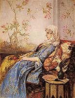 An Exotic Beauty in an Interior, 1883, toulmouche