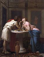 A Classical Courtship, 1853, toulmouche