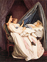 The New Arrival, 1861, toulmouche