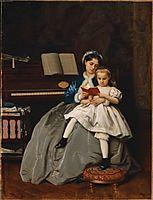 Reading Lesson, 1865, toulmouche