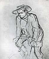 Aristide Bruant on His Bicycle, 1892, toulouselautrec