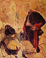 Artillerman and Girl, c.1886, toulouselautrec