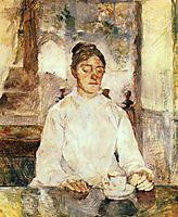 The artist-s mother, the Countess Adèle de Toulouse Lautrec at breakfast, 1883, toulouselautrec