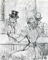 At the Bar Picton, Rue Scribe, 1896, toulouselautrec