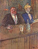 At the Cafe The Customer and the Anemic Cashier, 1898, toulouselautrec