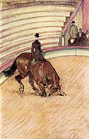 At the Circus Dressage, 1899, toulouselautrec