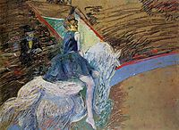 At the Cirque Fernando Rider on a White Horse, 1888, toulouselautrec