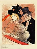 At the Concert, 1896, toulouselautrec