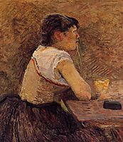 At Gennelle, Absinthe Drinker, 1886, toulouselautrec