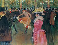 At the Moulin Rouge, The Dance, 1890, toulouselautrec