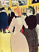 At the Moulin Rouge, La Goulue with Her Sister, 1892, toulouselautrec