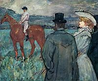 At the Races, 1899, toulouselautrec