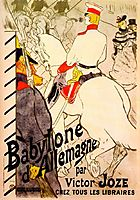 Babylon German by Victor Joze, c.1894, toulouselautrec
