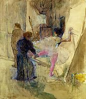 Behind the Scenes, 1899, toulouselautrec