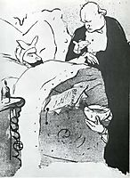 Carnot Malade Cannot Ill, a Song Sung at the Chat Noir, 1893, toulouselautrec