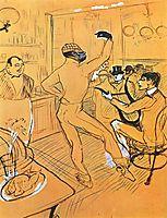 Chocolat dancing in the Irish and American Bar, c.1896, toulouselautrec