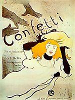 Confetti, 1894, toulouselautrec