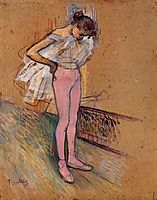 Dancer Adjusting Her Tights, 1890, toulouselautrec
