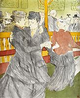 Dancing at the Moulin Rouge, 1897, toulouselautrec
