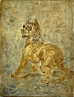 The Dog (Sketch of Touc), c.1880, toulouselautrec