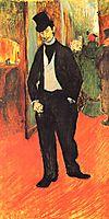 Dr. Tapie Celeyran in a corridor of the French Comedy, 1894, toulouselautrec