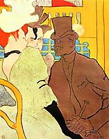 The Englishman at the Moulin Rouge, 1892, toulouselautrec