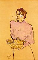 The Flower Seller, 1894, toulouselautrec