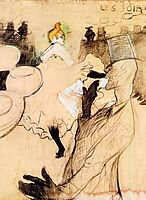 The Goulue and Valentin, The Boneless One, 1891, toulouselautrec