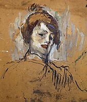Head of a Woman, 1896, toulouselautrec