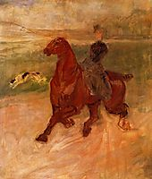 Horsewoman and Dog, c.1899, toulouselautrec