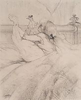In Bed, c.1898, toulouselautrec
