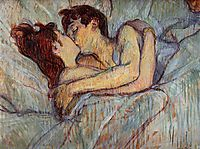 In Bed The Kiss, 1892, toulouselautrec