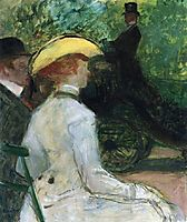In the Bois de Boulogne, c.1901, toulouselautrec