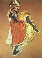 Jane Avril Dancing, 1893, toulouselautrec