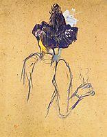 Jane Avril Seen from the Back, 1893, toulouselautrec