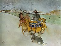 La Charrette Anglaise The English Dog Cart, 1897, toulouselautrec