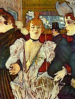 La Goulue Arriving at the Moulin Rouge with Two Women, 1892, toulouselautrec