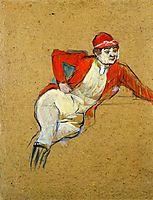 La Macarona in Riding Habit, 1893, toulouselautrec
